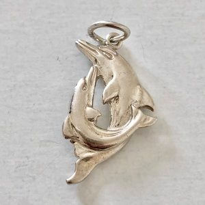 Sterling Silver Dolphin & Calf Charm